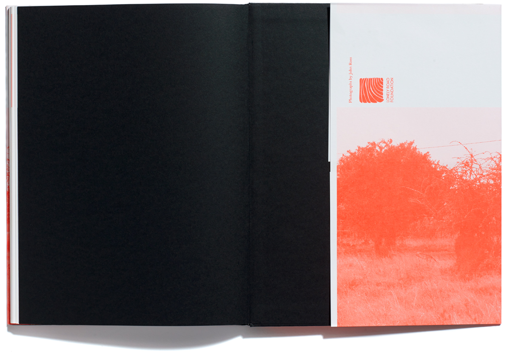 John Ross, The Lonely Road, published by Browns Editions, designed by Browns Design
