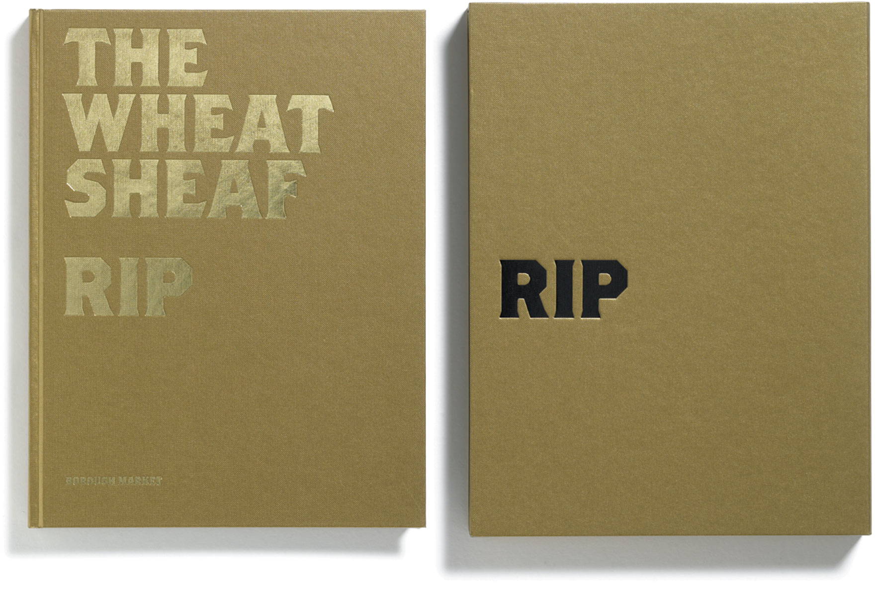 The Wheatsheaf RIP, John Ross, published by Browns Editions, designed by Browns Design, book