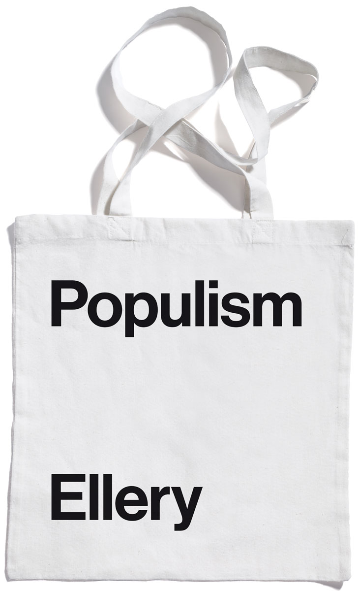 Populism tote bag by Jonathan Ellery, published by Browns Editions, designed by Browns Design