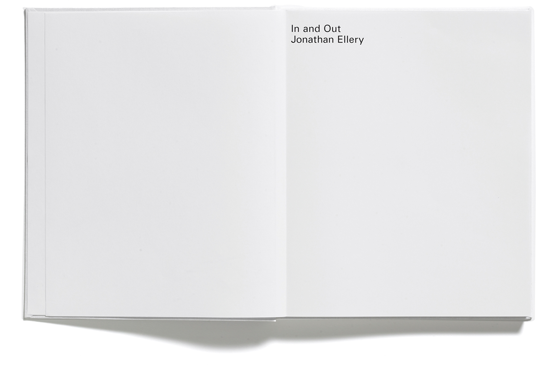 In and Out, Jonathan Ellery, Published by Browns Editions, Designed by Browns Design