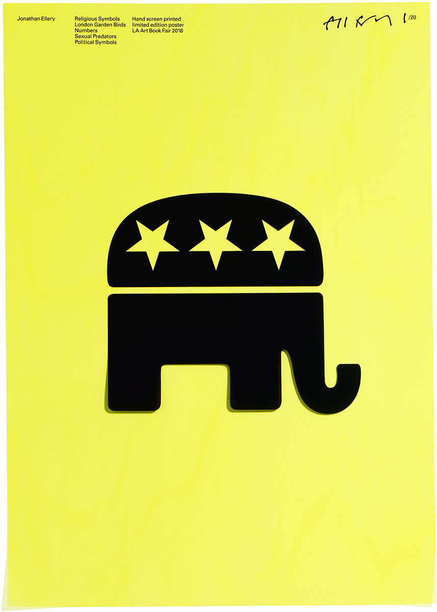 Political Symbols, Browns Editions, Jonathan Ellery, Poster