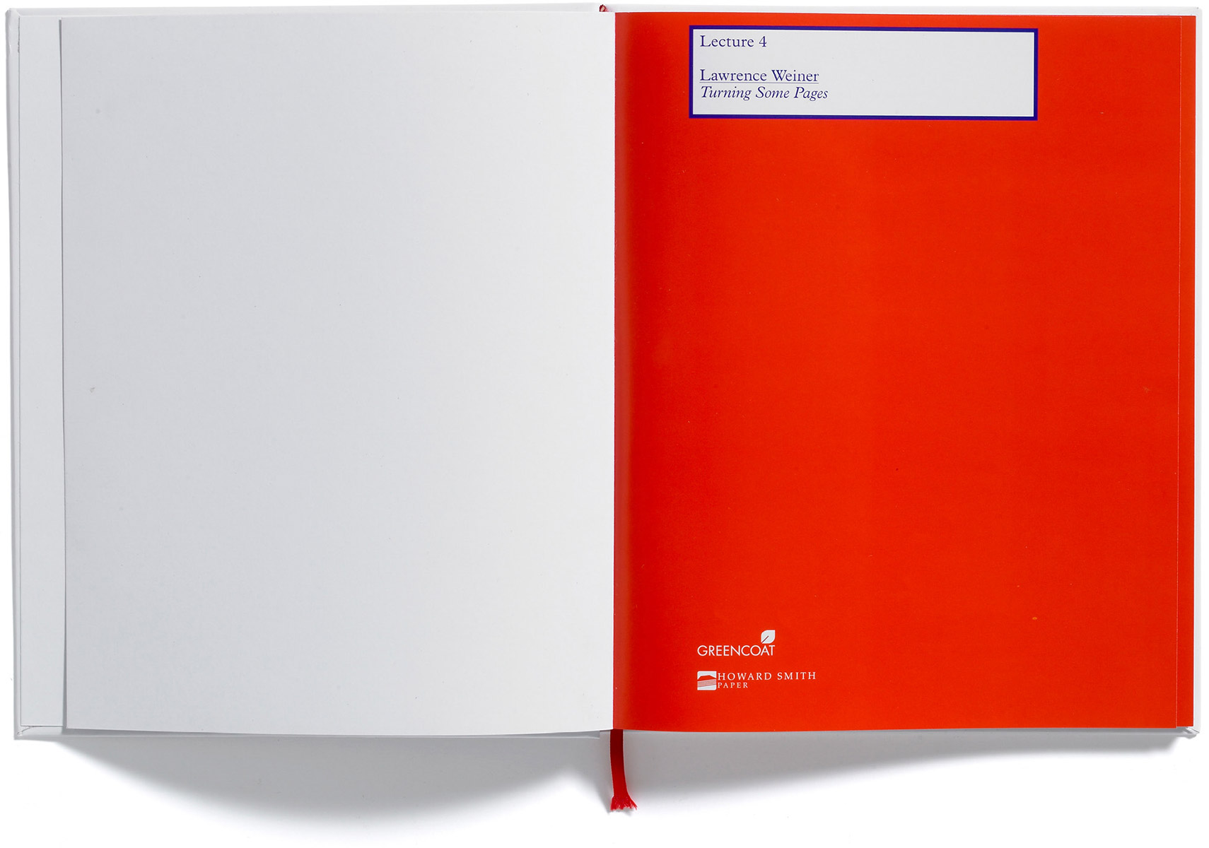 Browns Editions, Lawrence Weiner, Howard Smith Paper Lecture Series, Browns Design