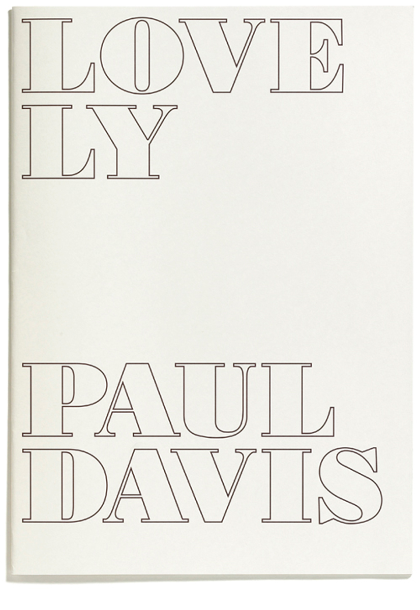 Lovely by Paul Davis, Published by Browns Editions, Designed by Browns Design