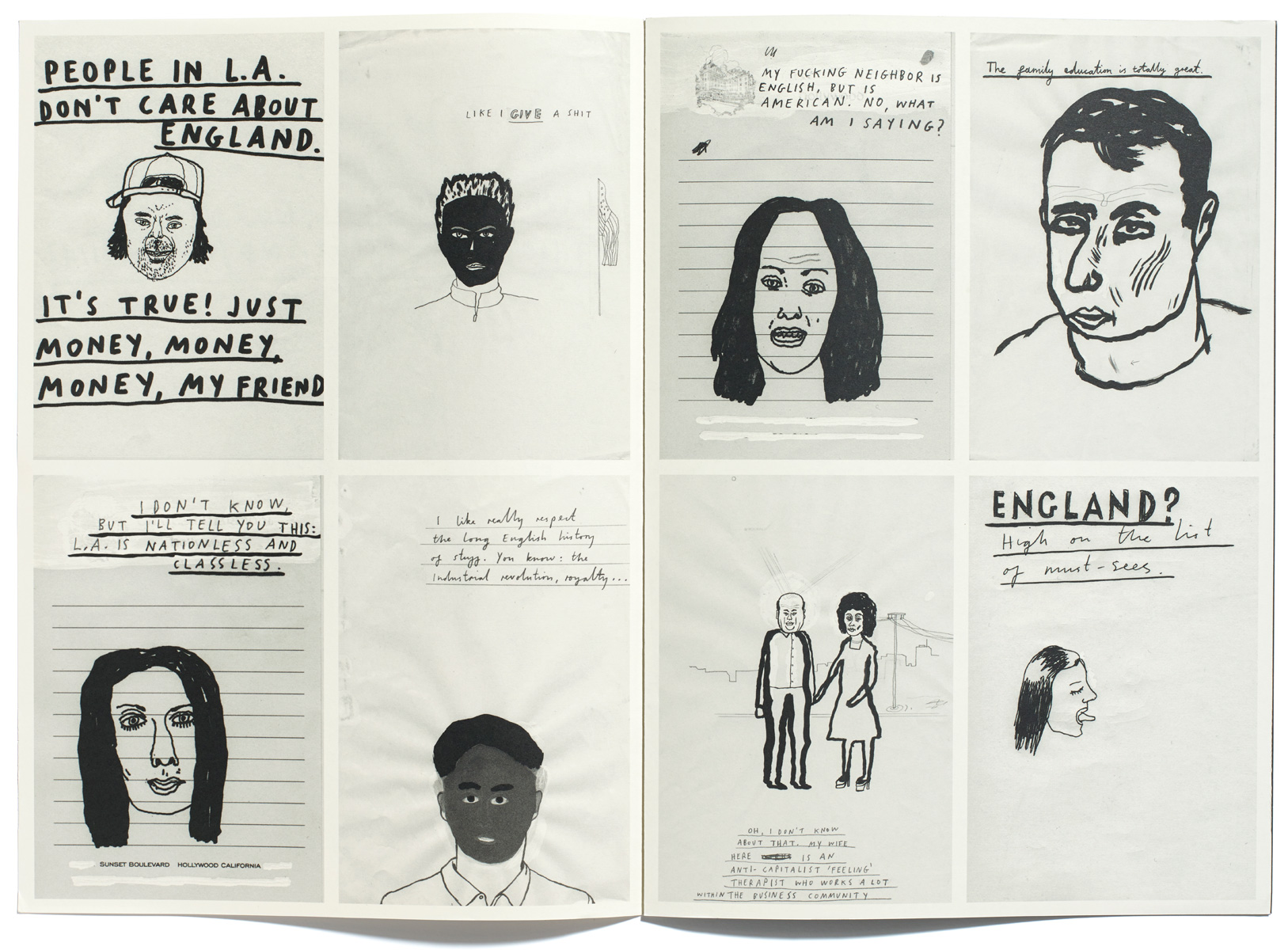 Browns Editions, What Do Californians Think of The English? Publication for Paul Davis