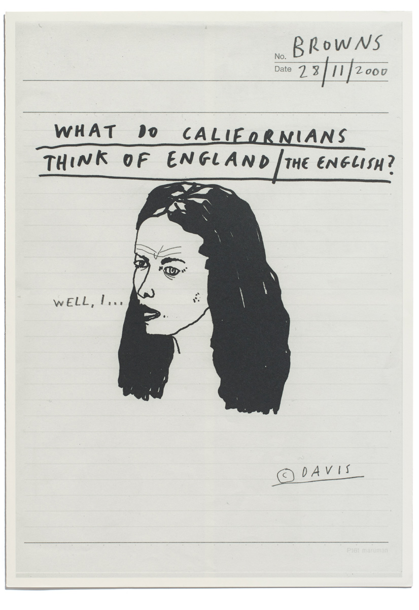 Browns Editions, What Do Californians Think of The English? Front Cover of Publication for Paul Davis