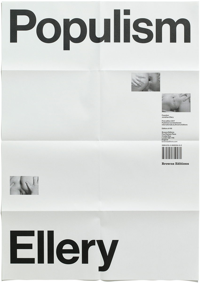Folded Populism Poster by Jonathan Ellery, Published by Browns Editions